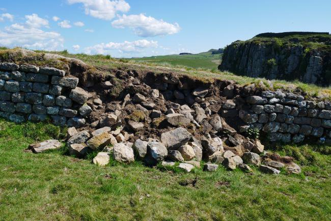 Hadrian's Wall 'being damaged by tourists seeking the perfect selfie'