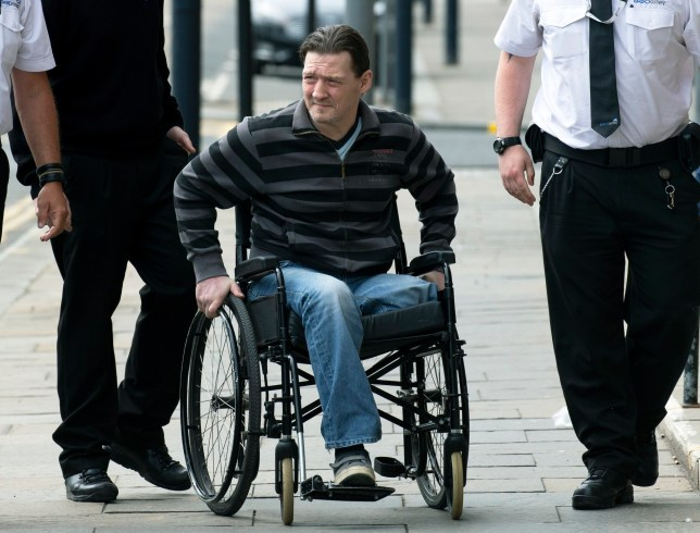 Perth Sheriff Court???..20.05.19 *****NO BYELINE PLEASE***** David Phillips being led from court after being jailed???.robbed a nail bar see story by Gordon Currie Copyright Perthshire Picture Agency Tel: 01738 623350 Mobile: 07990 594431