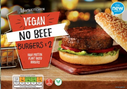 The vegan burgers