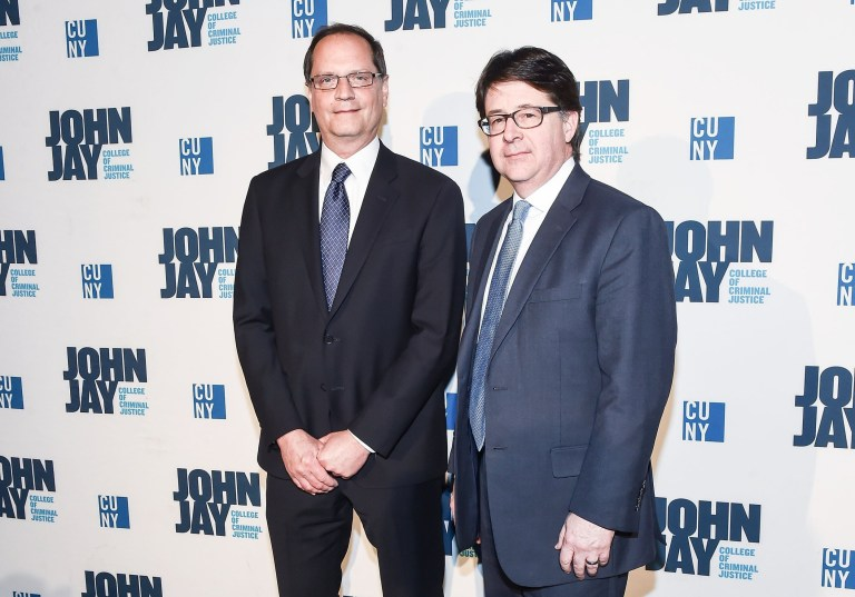 NEW YORK, NY - MARCH 03: Jerry Buting and Dean Strang attend the 2016 John Jay Medal For Justice Award at Gerald W. Lynch Theater on March 3, 2016 in New York City. (Photo by Daniel Zuchnik/WireImage)