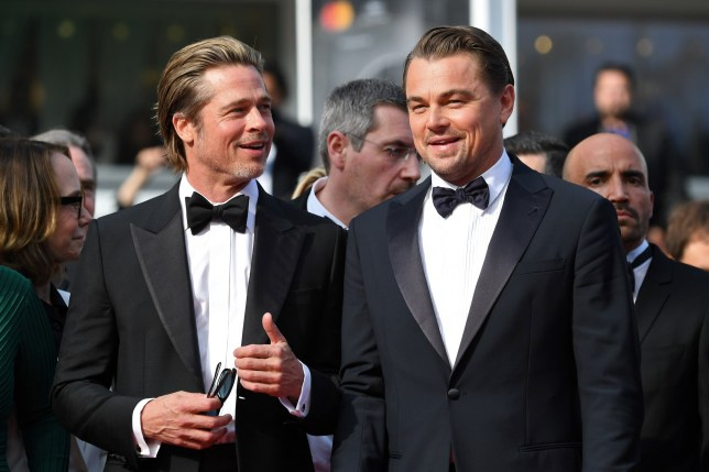 Brad Pitt and Leonardo DiCaprio at Once Upon a Time... in Hollywood Cannes screening 2019
