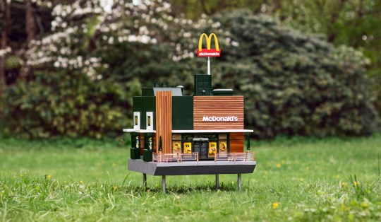 Picture: McDonalds McDonald's creates a tiny restaurant for bees