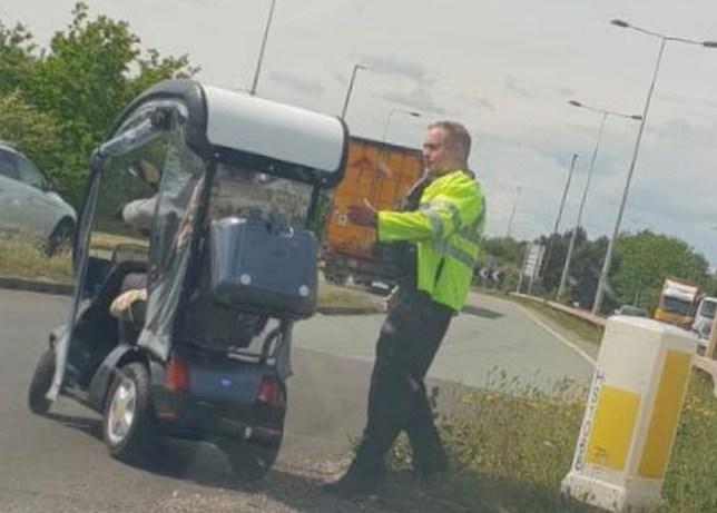 Elderly Man Drives Wrong Way Down Dual Carriageway In