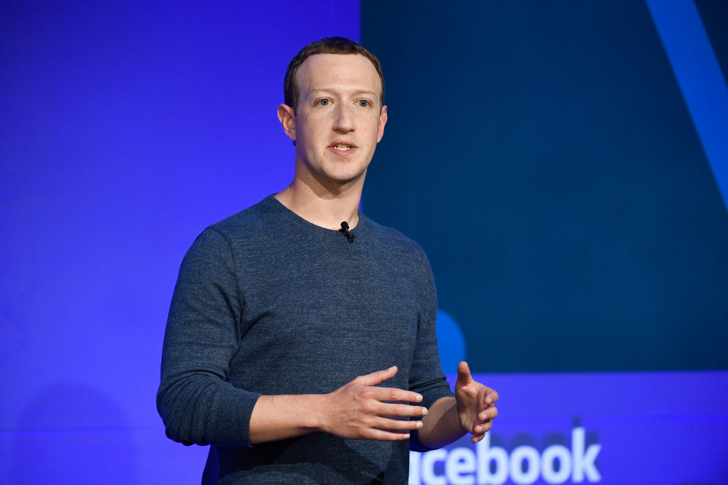 Facebook CEO Mark Zuckerberg speaks during a press discussion in Paris on May 23, 2018. (Photo by BERTRAND GUAY / AFP) (Photo credit should review BERTRAND GUAY/AFP/Getty Images)