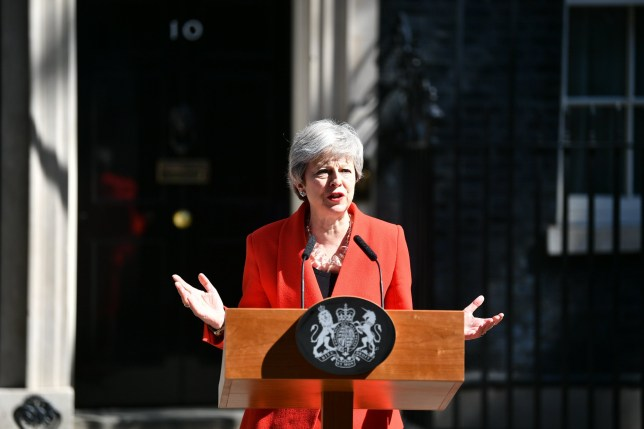 ?? Licensed to London News Pictures. 24/05/2019. London, UK. British Prime Minister THERESA MAY is seen delivering a statement at Downing Street in Westminster, London. The Prime Minister is under huge pressure to quit over her handing of negotiations for the UK's exit from the European Union. Photo credit: Ben Cawthra/LNP
