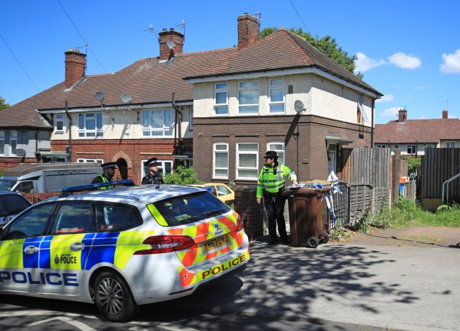 "Police officers at a property on Gregg House Road in Shiregreen, Sheffield, after six children were taken to hospital following a ""serious incident"". Two people have been arrested. PRESS ASSOCIATION Photo. Picture date: Friday May 24, 2019. See PA story POLICE Sheffield. Photo credit should read: Danny Lawson/PA Wire"