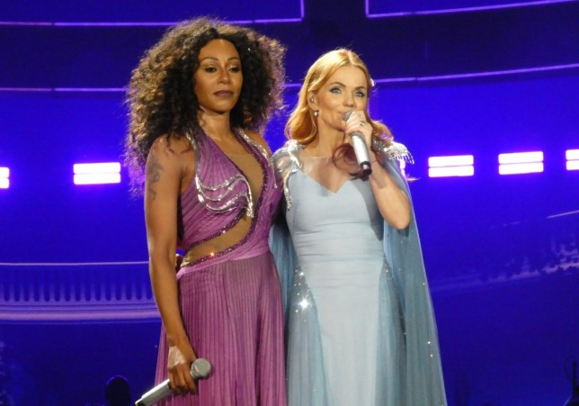 Mel B and Geri Horner at Spice Girls tour