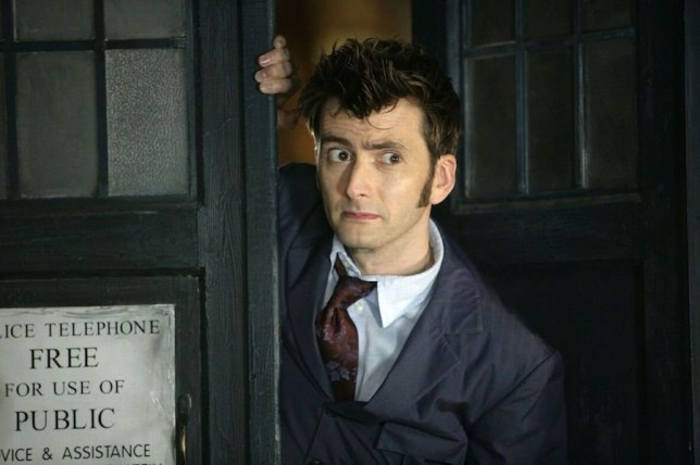 David Tennant as the Time Lord on Doctor Who