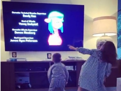Robbie Williams and Ayda Field's children are giving their parents a run for their money with cute singalong