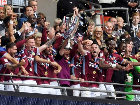 Aston Villa promoted to Premier League after beating Derby in Championship play-off final