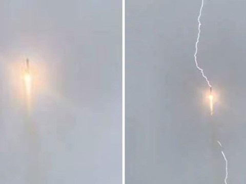 Watch as a bolt of lightning strikes Russian rocket during liftoff