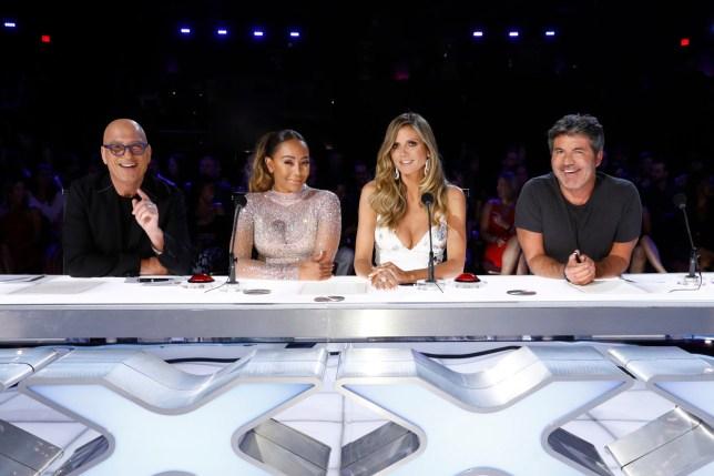 Mel B and Heidi Klum on America's Got Talent
