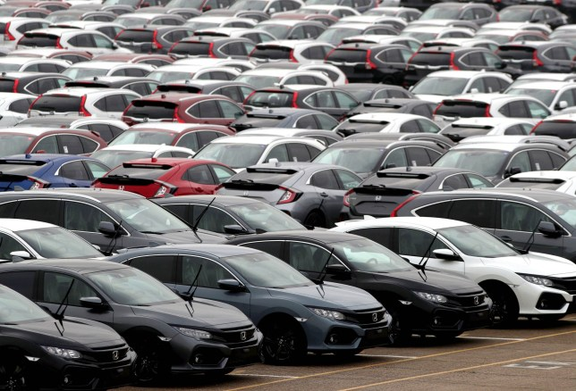 EMBARGOED TO 0001 THURSDAY MAY 30 File photo dated 12/01/18 of new cars lined up. The number of cars built in the UK plummeted by almost half in April compared with a year ago, new figures reveal. PRESS ASSOCIATION Photo. Issue date: Thursday May 30, 2019. Just under 71,000 cars rolled off production lines in the month, down by 44.5% on April last year as factory shutdowns, rescheduled to mitigate against the expected uncertainty of Brexit at the end of March, took effect in many plants across the UK, said the Society of Motor Manufacturers and Traders (SMMT). See PA story INDUSTRY Cars. Photo credit should read: Andrew Matthews/PA Wire