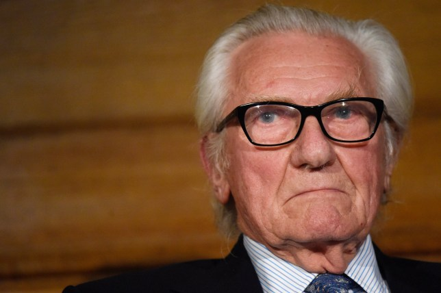 LONDON, ENGLAND - MAY 29: Lord Michael Heseltine attends a European Movement event on May 29, 2019 in London, England. Lord Michael Heseltine was announced as European Movement's new President at the event, a position previously held by Lord Ashdown. (Photo by Peter Summers/Getty Images)
