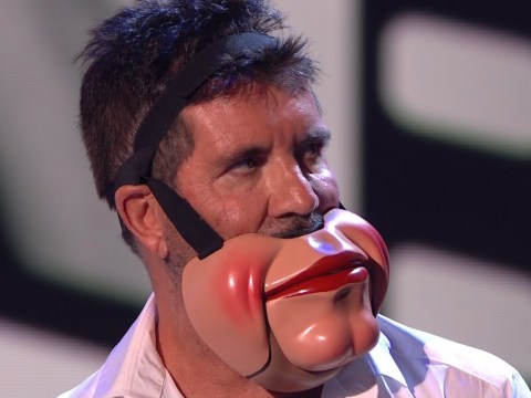 Why did Simon Cowell storm off of the Britain's Got Talent stage?