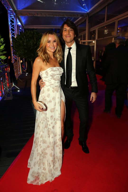 Amanda Holden and husband Chris Hughes