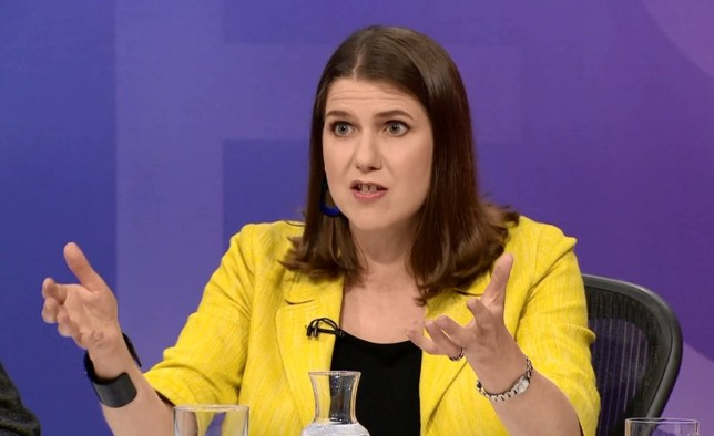 Liberal Democrat leadership contender Jo Swinson appearing on Question Time 30.05.2019