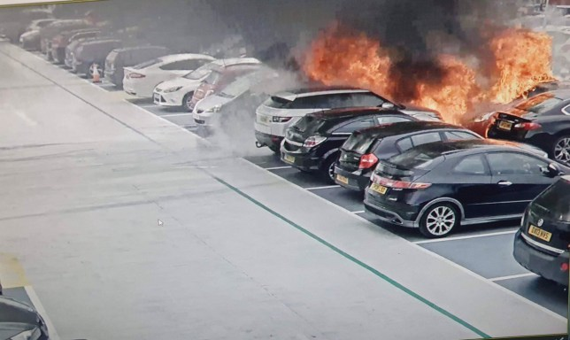 The fire broke out at a multi-storey car at terminal two