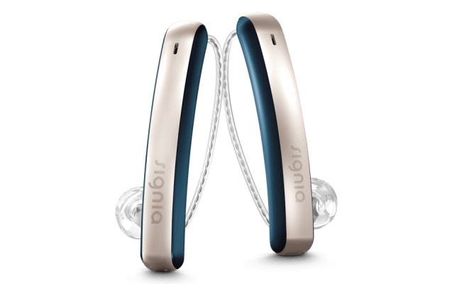 The Styletto Connect by Signia is one of the latest cool hearing aids on the market. It is available at Specsavers for £3,000