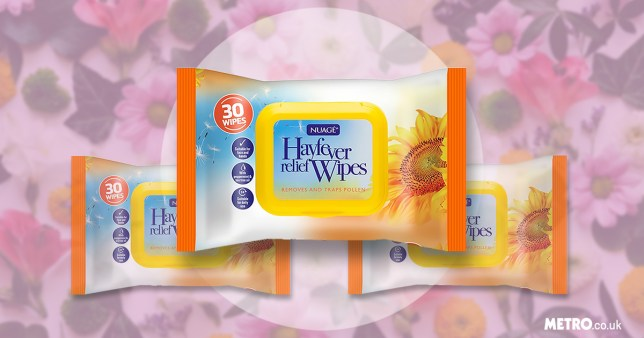 Hay fever wipes