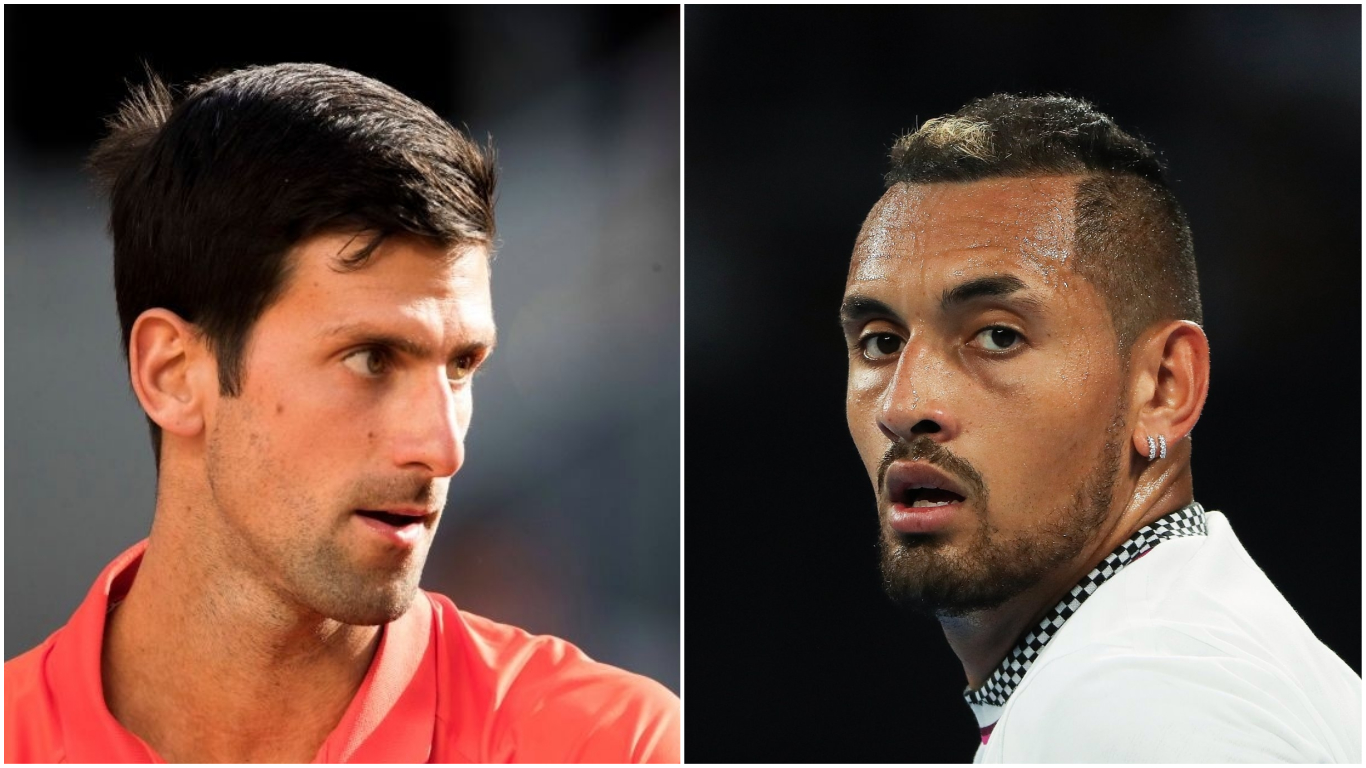 Nick Kyrgios has ripped into 'cringeworthy' Novak Djokovic