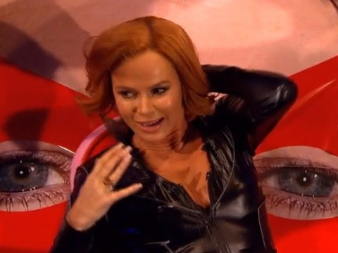 Britain's Got Talent's Amanda Holden discussing sex positions dressed as Black Widow on a wobble board is quite something