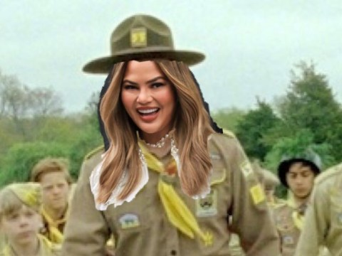 Chrissy Teigen skips Met Gala 2019 but teases epic on-theme camp outfit