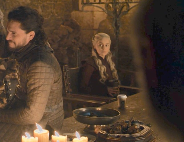 Game Of Thrones left coffee cup in scene.
