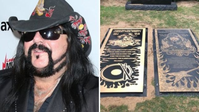 Vinnie Paul and Dimebag Darrell's grave markers