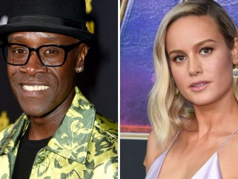 Don Cheadle defends Brie Larson after 'body language expert' accuses her of giving Chris Hemsworth 'bedroom eyes'