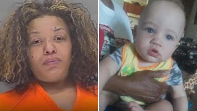 'Drunk mother passed out on boy, 1, and smothered him to death'