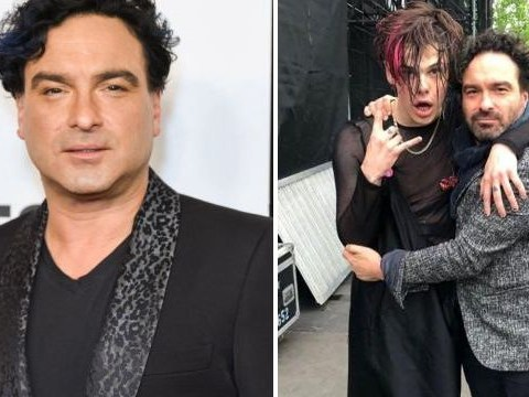 Johnny Galecki replaces Big Bang Theory co-stars as he parties with Yungblud