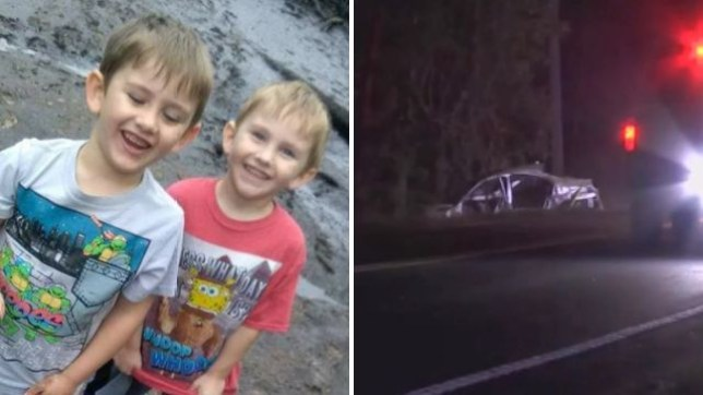 Twin brothers Camryn and Dylan Clark, 6, were hurled to their deaths from their mother's BMW after she crashed while drunk, police say