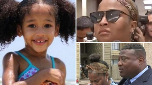 Missing five year-old Maleah Davis. Her mother Brittany Bowen (top right) has been dropped by spokesman Quanell X (bottom right) over what he calls 'inconsistencies' in her story