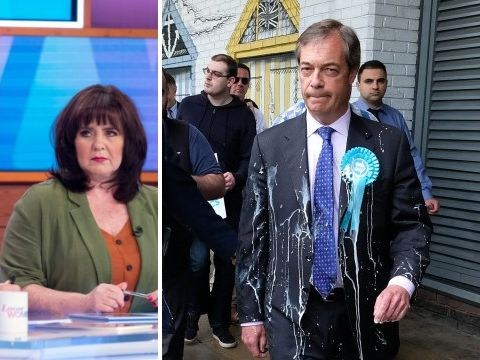 Coleen Nolan slams 'pathetic' man who threw milkshake over Nigel Farage: 'What's next, acid?'