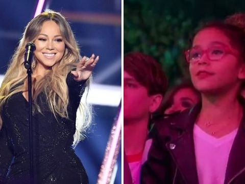 Mariah Carey's kids are her tiniest superfans as they mouth her lyrics in BBMAs crowd