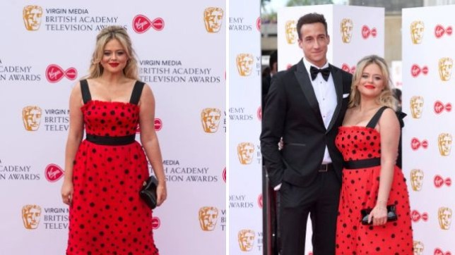 Emily Atack made her red carpet debut with her new boyfriend Rob Jowers