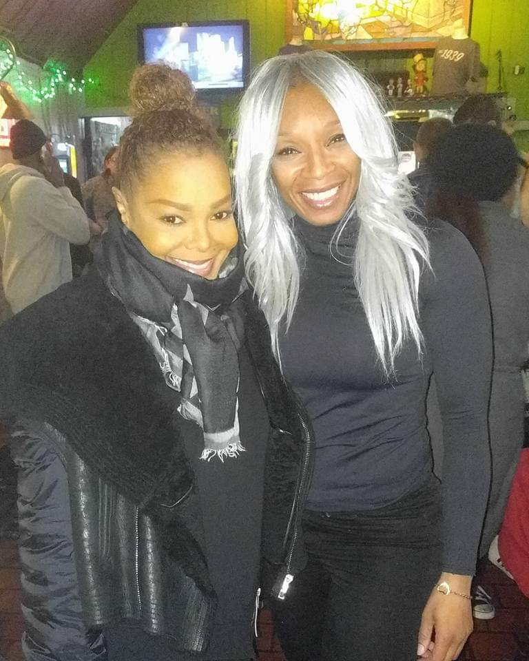 Janet Jackson and her personal trainer Paulette Sybliss