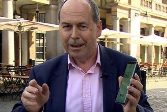 Rory Cellan-Jones during the live 5G broadcast