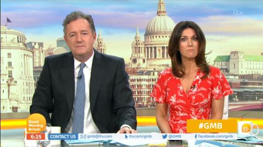 Piers Morgan Susanna Reid on Good Morning Britain