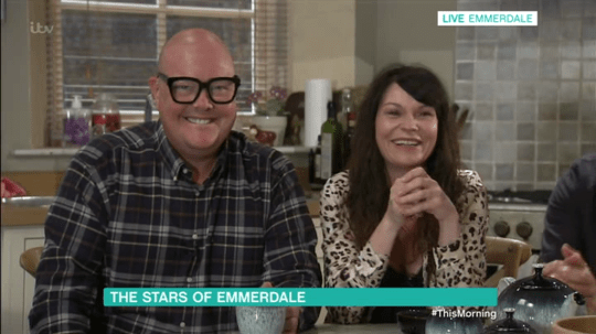Dominic Brunt and Lucy Pargeter on Emmerdale