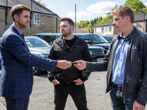 Emmerdale spoilers: Robert Sugden and Aaron Dingle take revenge on Victoria Barton's rapist Lee