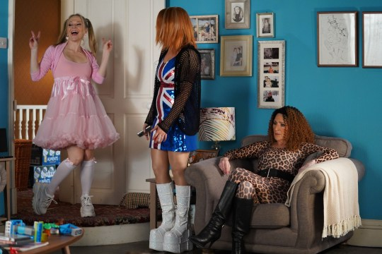 The Carters as Spice Girls in EastEnders