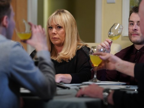 How old is Sharon in EastEnders and who is the father of her baby?