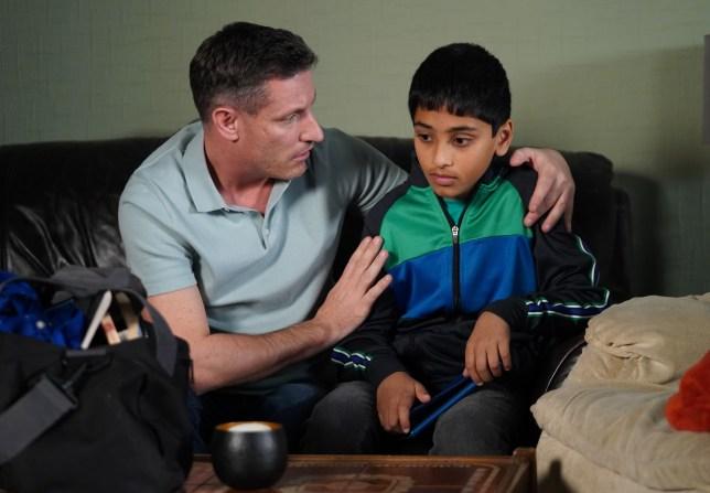 Robbie looks after Sami in EastEnders