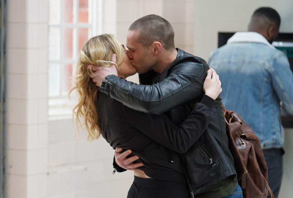 Keanu and Louise kiss in EastEnders