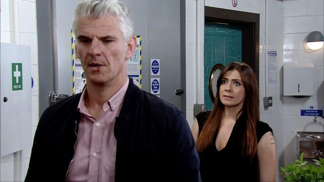 Robert in Michelle in Coronation Street