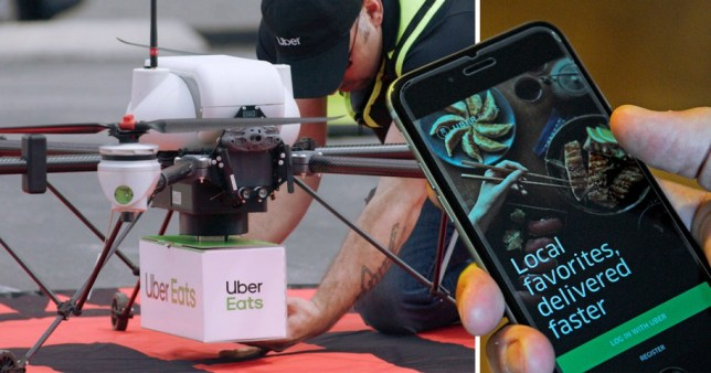 Uber Eats is trialling drone delivery