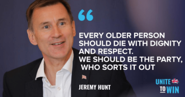 Jeremy Hunt's tweet which appeared to suggest he wanted to kill 'every older person'