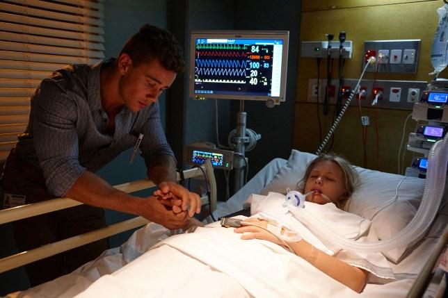 Mason and Raffy in hospital